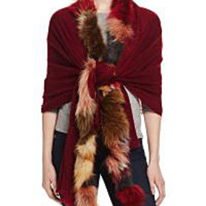 NWT - Nairobi Fox Fur Wrap Scarf - Italy